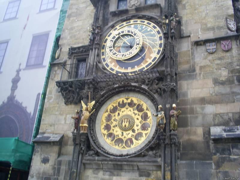 Часы на пражской Ратуше